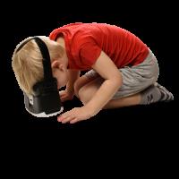 Dítě s virtuální realitou